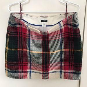 Plaid jcrew miniskirt
